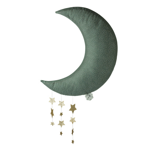 picca loulou grey hanging moon with stars from cotton and cuddles