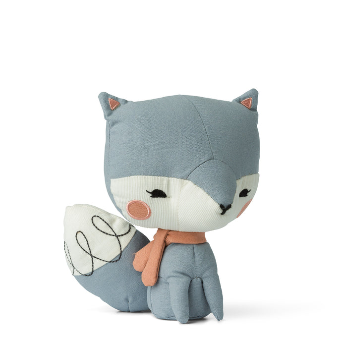 picca loulou linen blue fox in gift box from cotton and cuddles