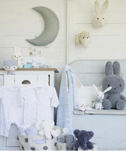 Load image into Gallery viewer, picca loulou grey hanging moon with stars from cotton and cuddles