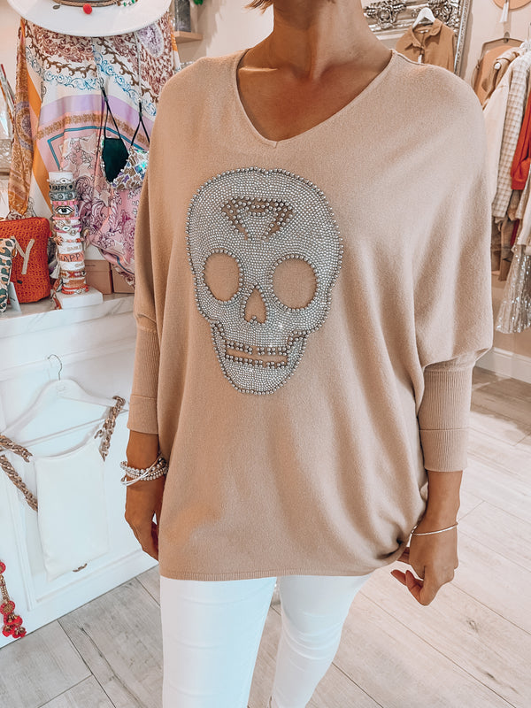 Skull beaded jumper