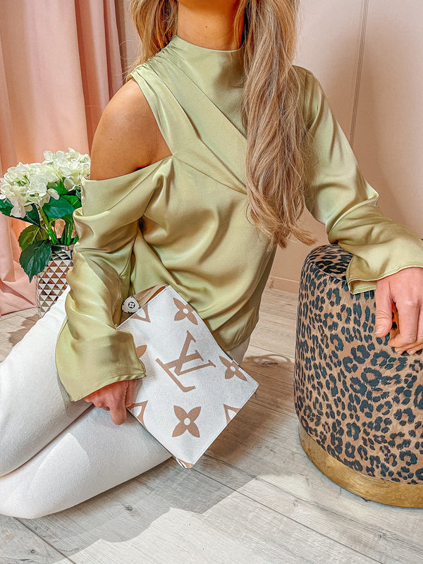Pistachio Jett Blouse by Pretty lavish