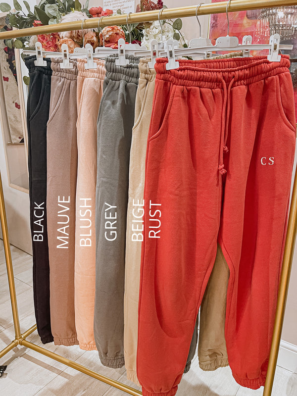 PM Luxe Beige Joggers
