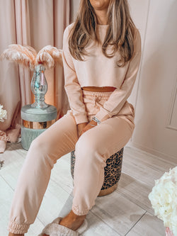 PM Luxe Blush Cropped Lounge Jumper