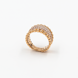 Inel Gold Diamond Dots
