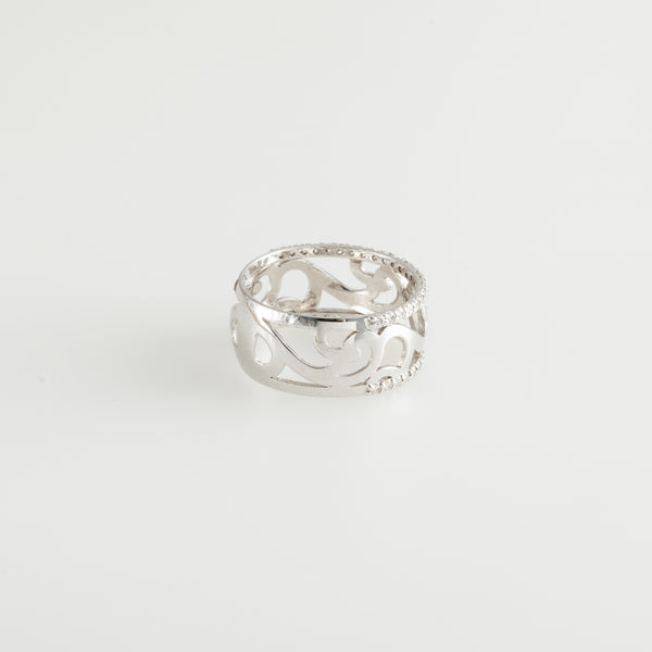 White Diamond Frontispiece Ring