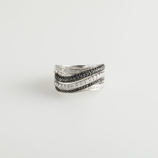 Twisted Lines Ring