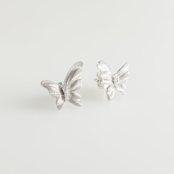 Textured Butterfly Diamonds Earrings