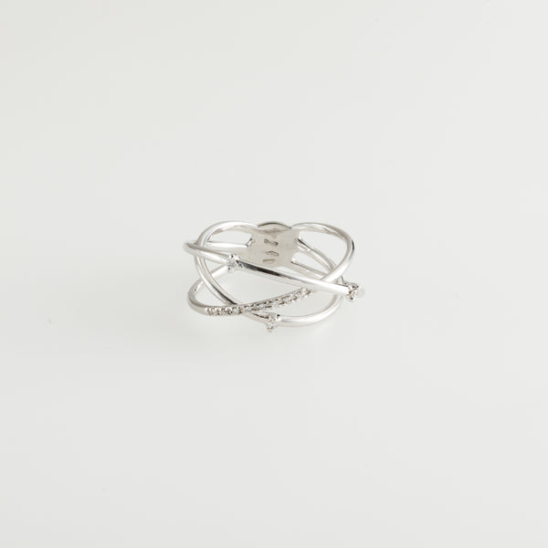 Diamonds Solar Asymetric Ring