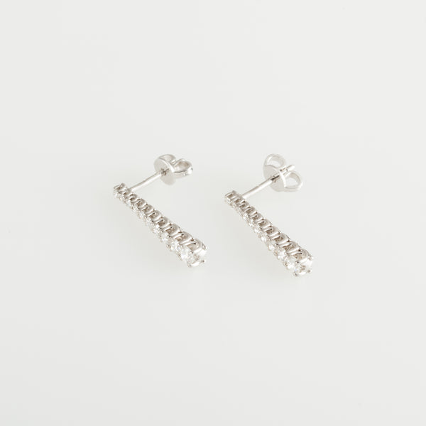 Tiny Tennis Earrings
