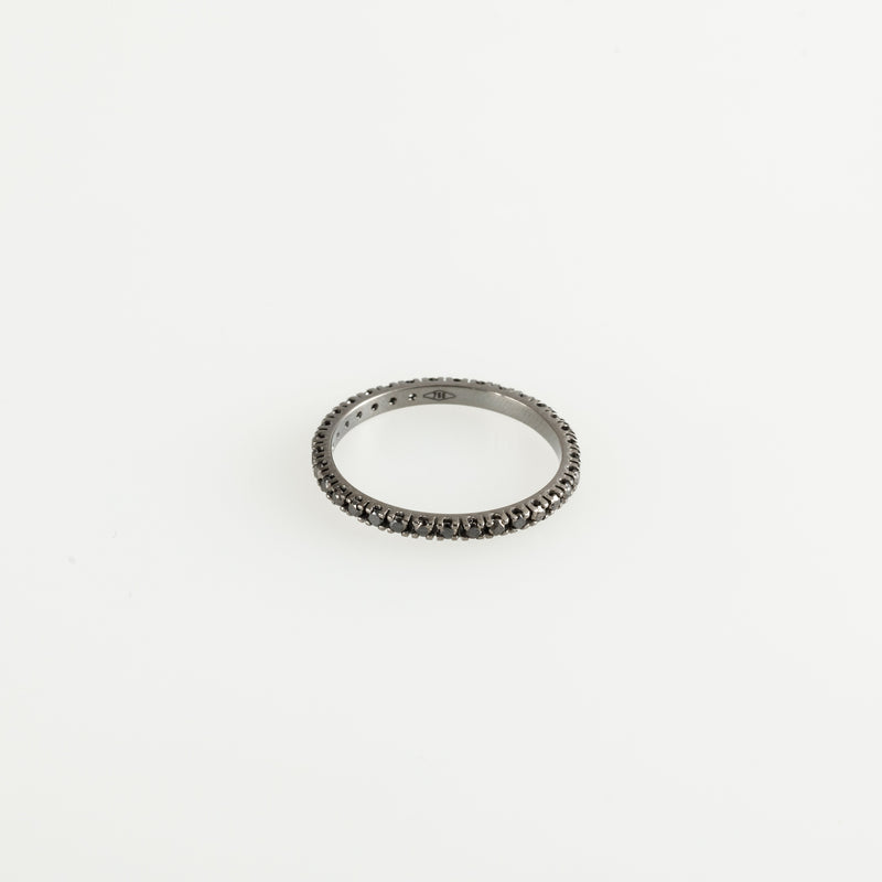 Inel Black Eternity cu Diamante negre 0.39ct