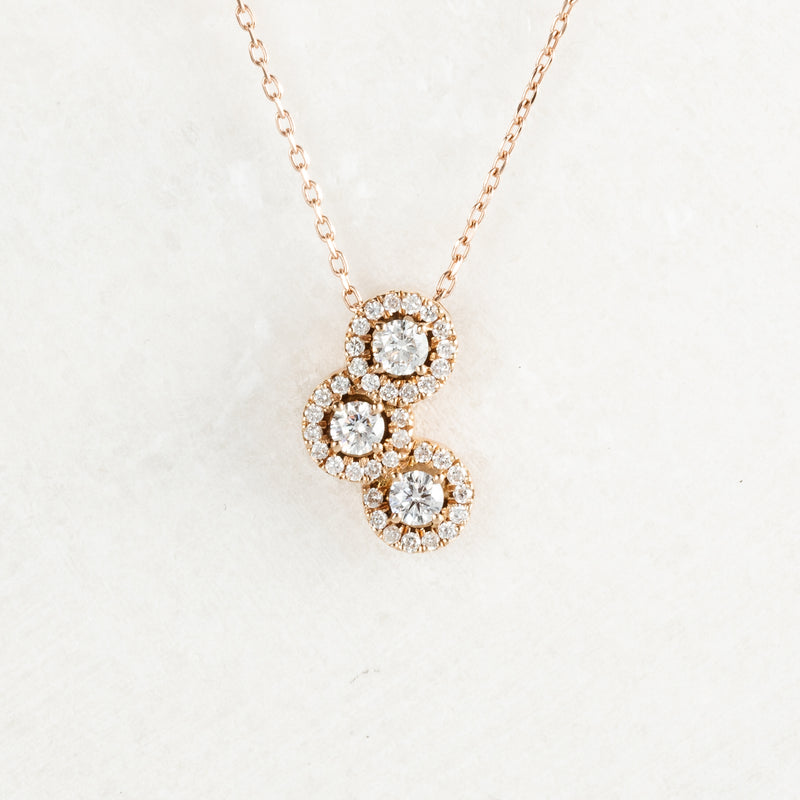 Colier Gold Trio Diamond