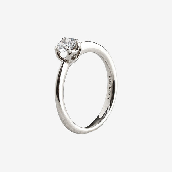 Tiny Heart Engagement Ring