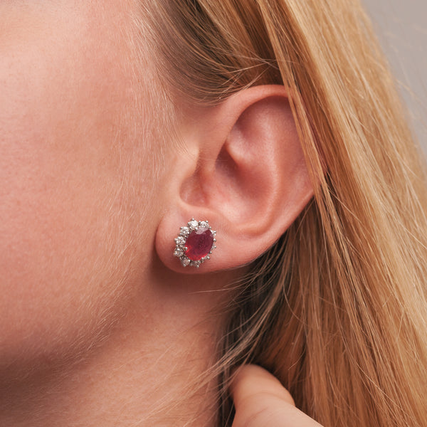 Ruby Sparkle Earrings