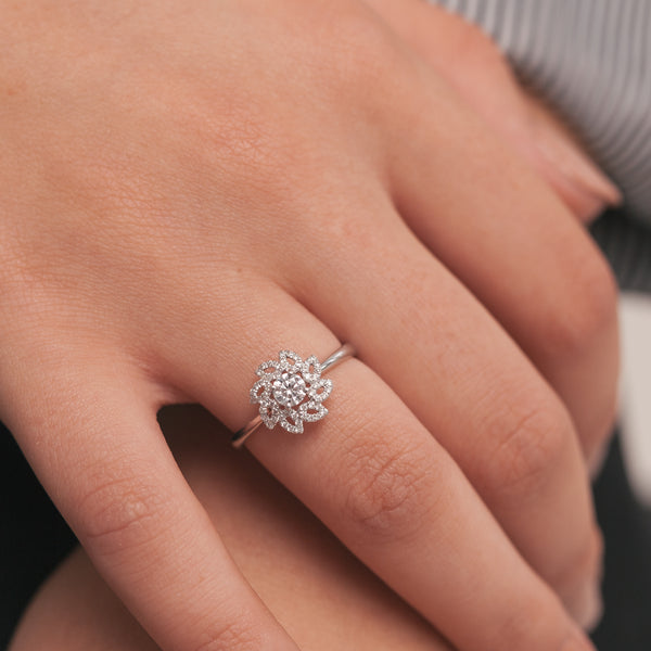 Twisted Flower Ring