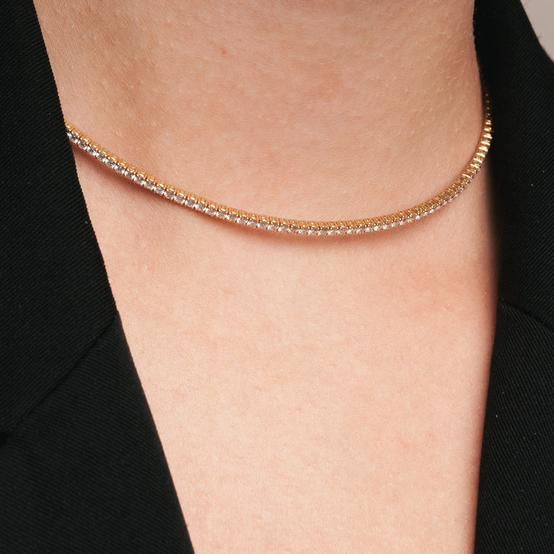 Colier Rose Gold Diamonds Choker