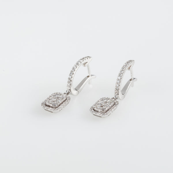 Square Galaxy Earrings-Comercianti De Diamante