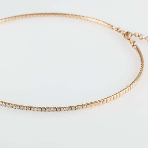 Rose Gold Diamonds Choker