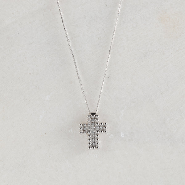 Colier Small Diamonds Cross