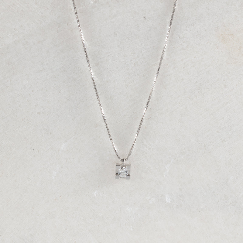Tiny Diamond Necklace