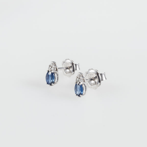 Sapphire Droplet Earrings-Comercianti De Diamante