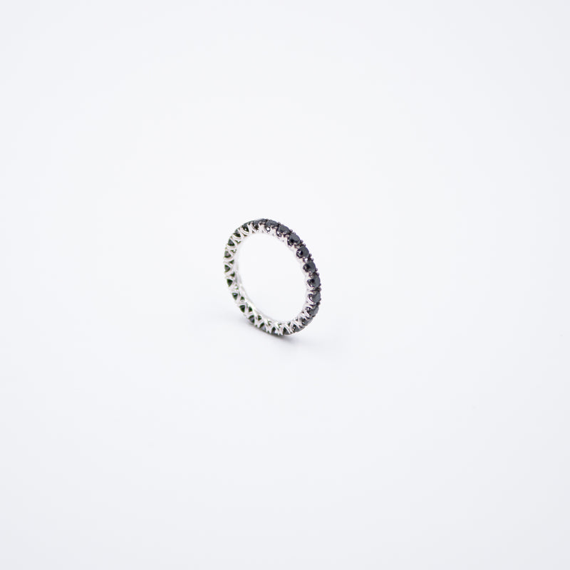 Inel Eternity cu Diamante Negre 1.5ct