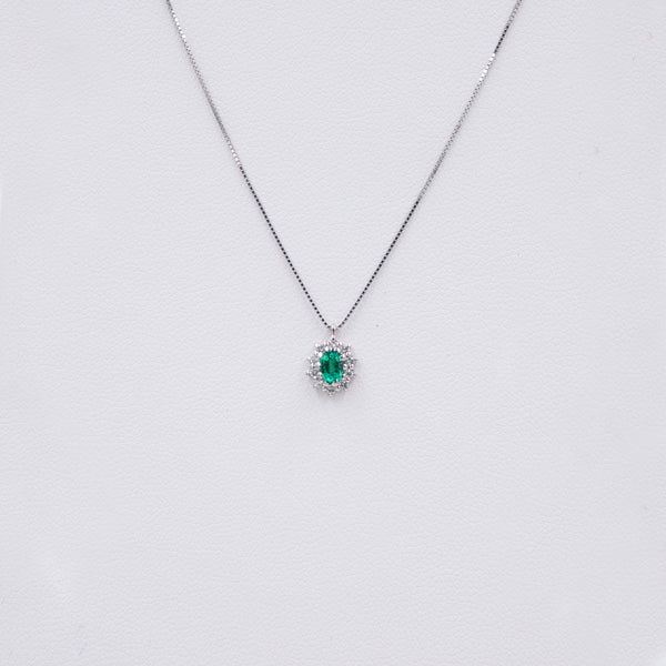 Colier Emerald Sparkle cu Diamante
