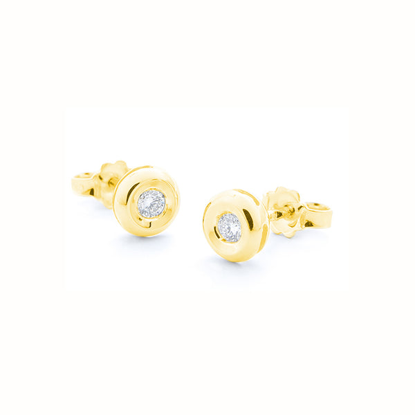Cercei Round Gold Spotlight Diamond