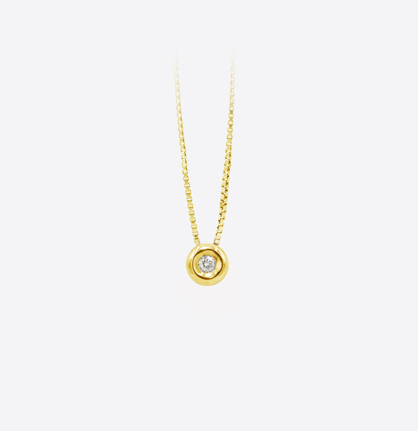 Colier Round Gold Spotlight  Diamond
