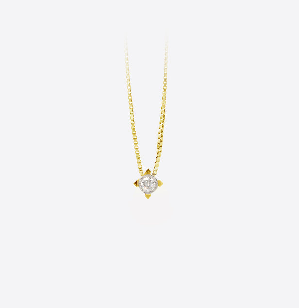 Colier Square Gold Spotlight  Diamond