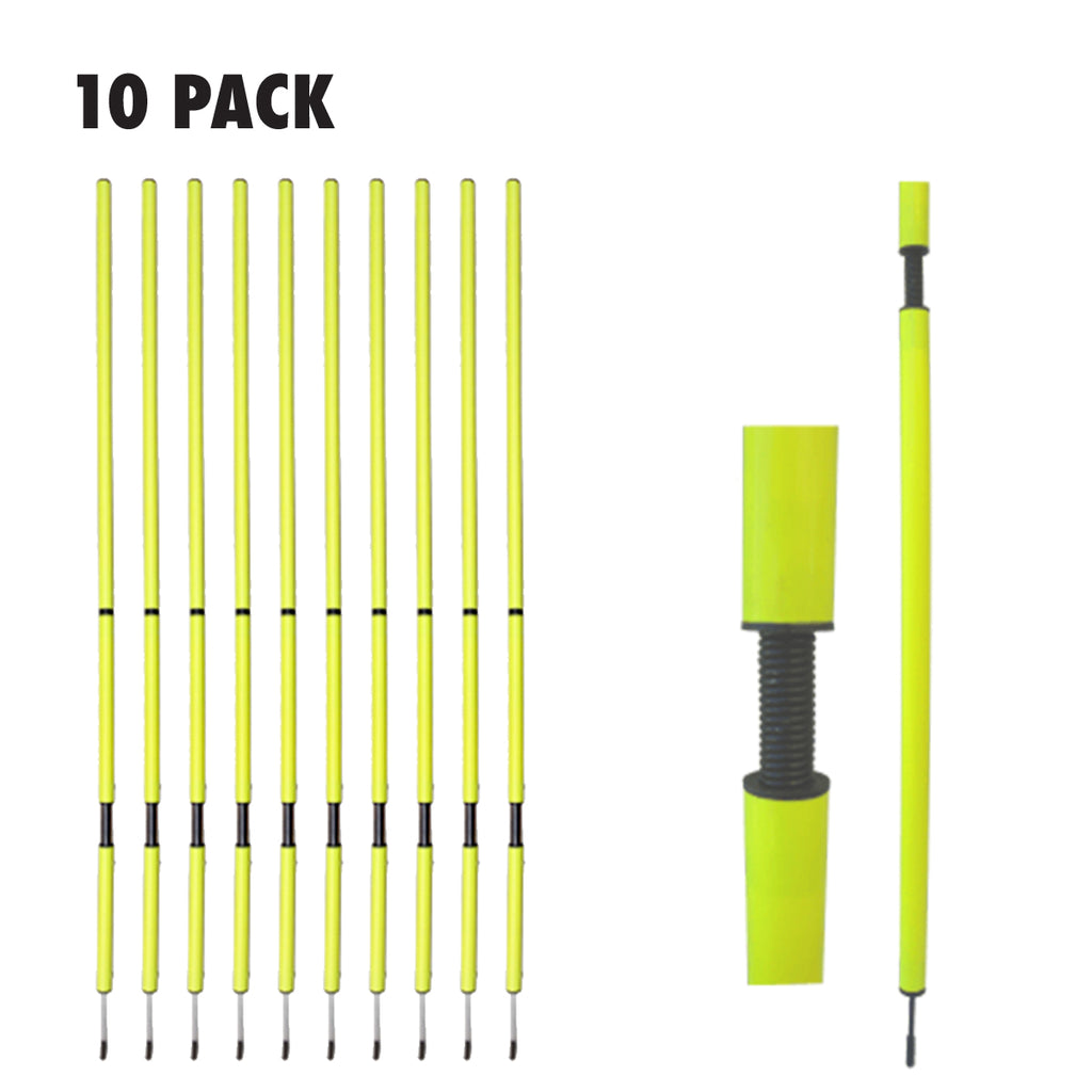ELITE SPRING SLALOM POLE SET - 10 PACK
