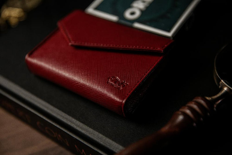 Playing Card Leather Bag Red