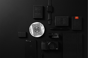 DKNG Black Wheels Playing Cards