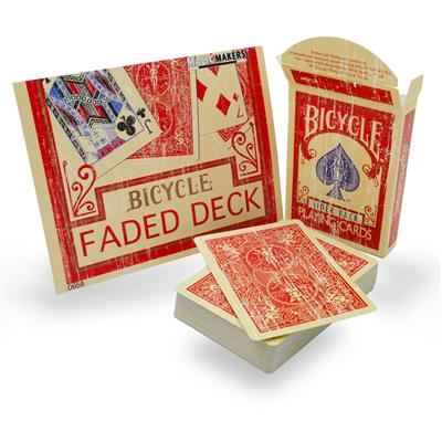 Bicycle Faded Rider Back Red Playing Cards