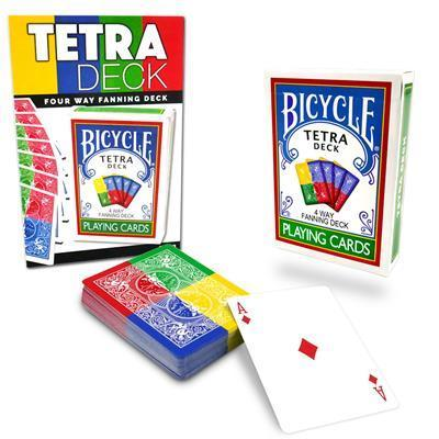 Bicycle Tetra 4-Way Fanning Playing Cards