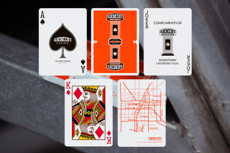 Gemini Orange Playing Cards
