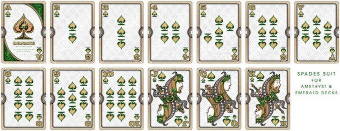 Bicycle Ornate White Emerald Edition Playing Cards
