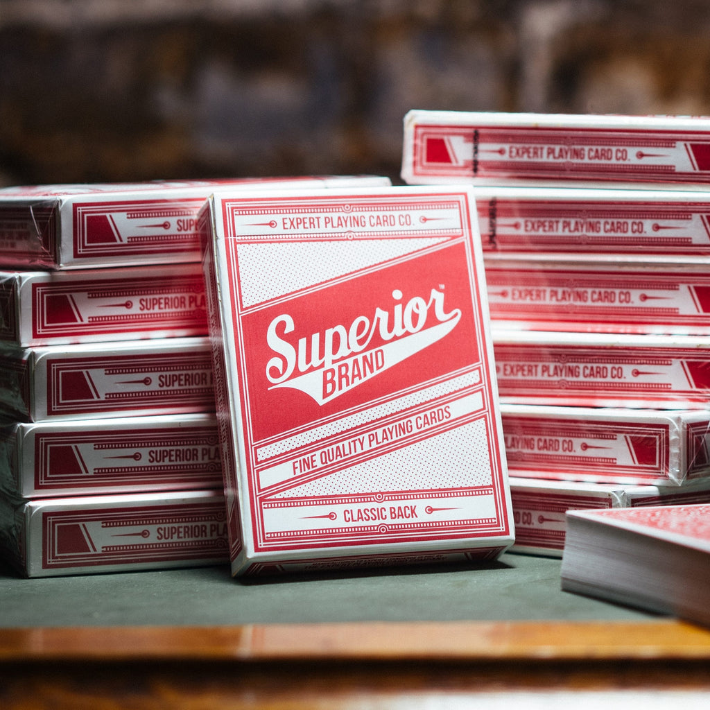 Superior Classic Back Red Playing Cards