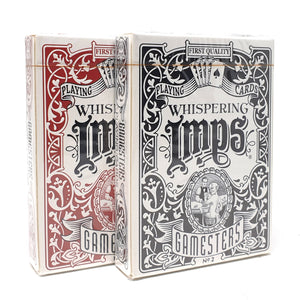 Whispering Imps Gamesters Playing Cards