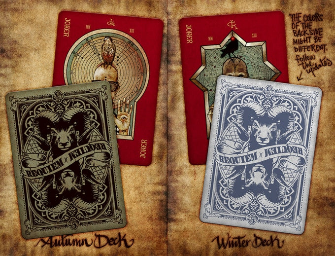 Requiem Winter Playing Cards