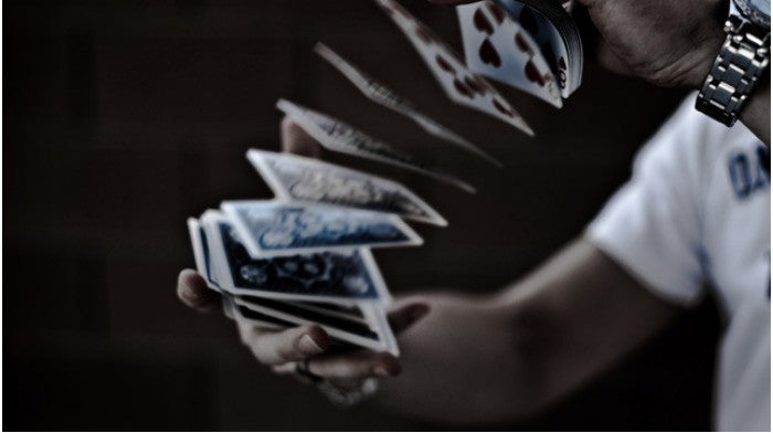 Tally-Ho Fan Back Blue Playing Cards