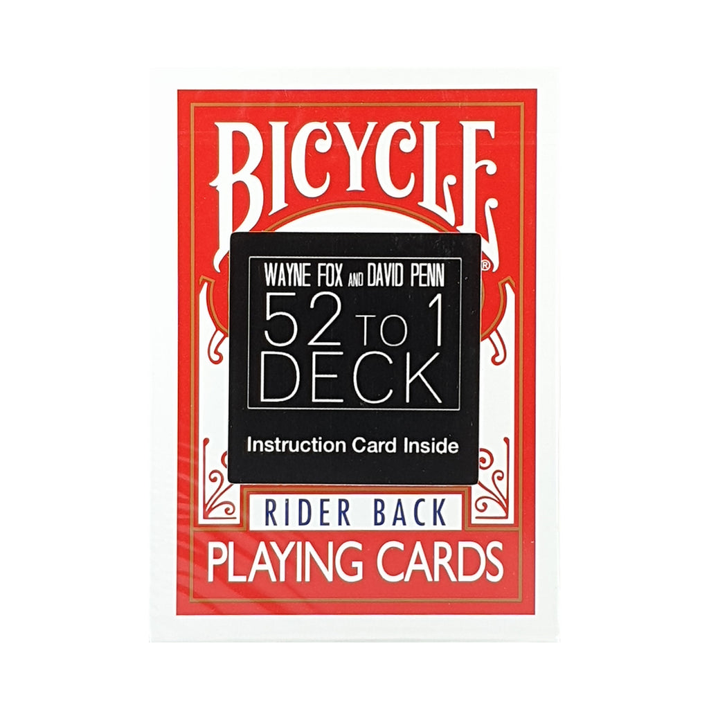 52 to 1 Red Deck (Instructions and Gimmick)