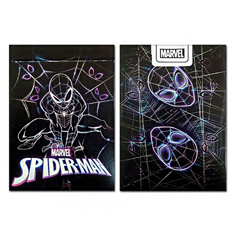 Marvel Spiderman Black Playing Cards