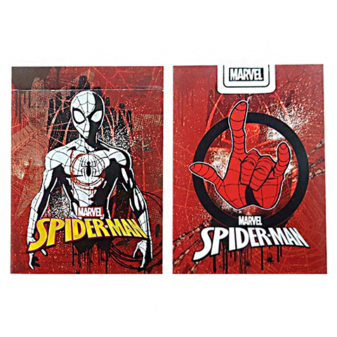 Marvel Spiderman Red Playing Cards