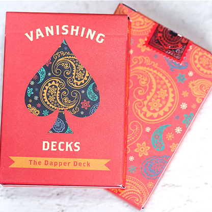 Dapper Orange (Marked) Playing Cards
