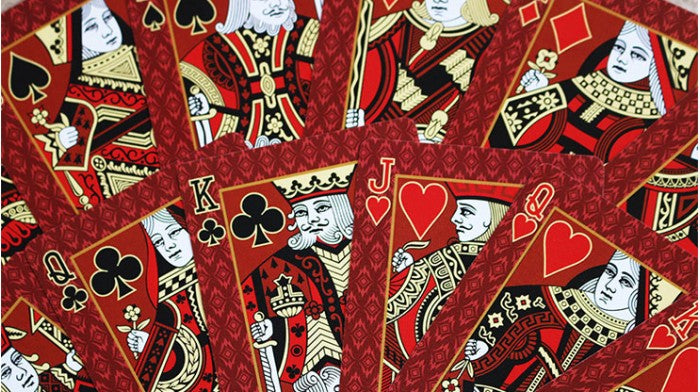 Bicycle Red Castle Playing Cards