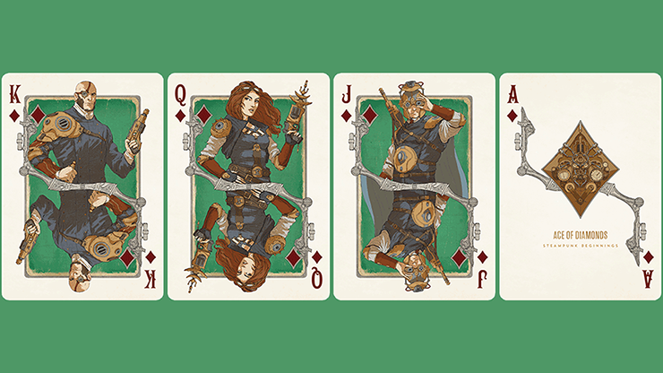 Bicycle Steampunk Beginnings Playing Cards