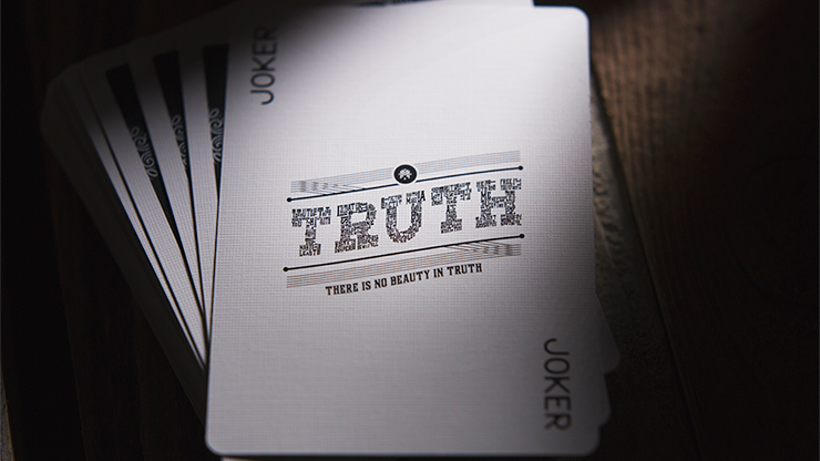 Truth and Lies (Truth) Black Playing Cards