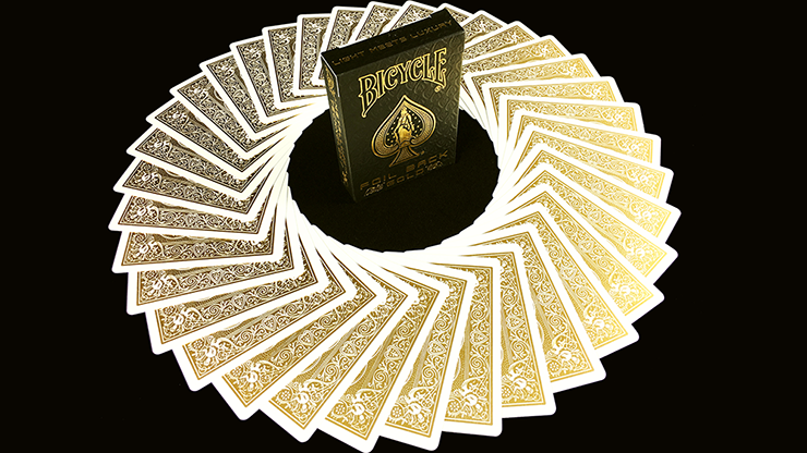 Bicycle Rider Back Luxe Gold Playing Cards