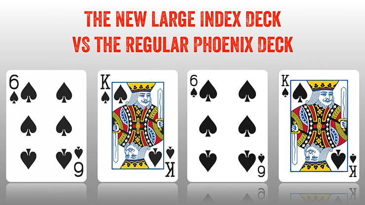 Phoenix Large Index Red Playing Cards