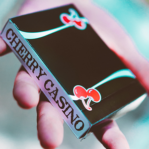 Cherry True Black Playing Cards